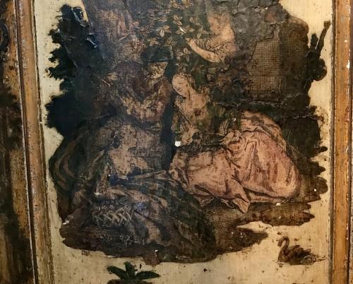 Furniture  - Italian corner cabinet in Arte Povera, 18th century