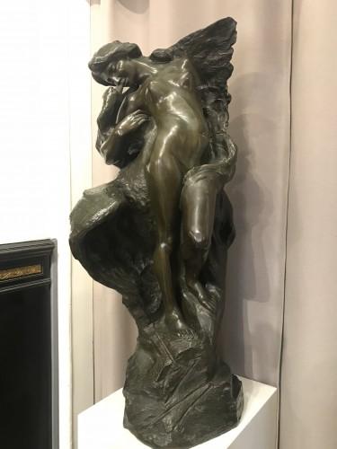 Sculpture  - Jules HERBAYS (1866 - 1940) - Leda and the swan