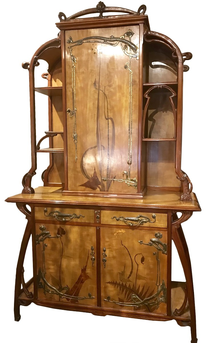 l on benouville grand meuble art nouveau circa 1900 xxe si cle. Black Bedroom Furniture Sets. Home Design Ideas