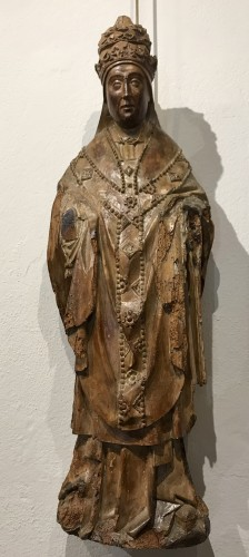 Holy Pope, Brabant South Netherlands, around 1500 - Religious Antiques Style