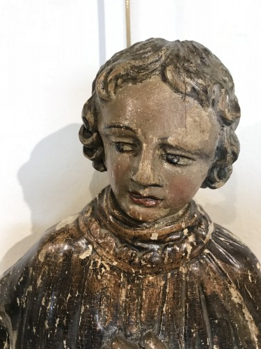 Saint Deacon, polychromed wooden sculpture,  France 18th siècle -