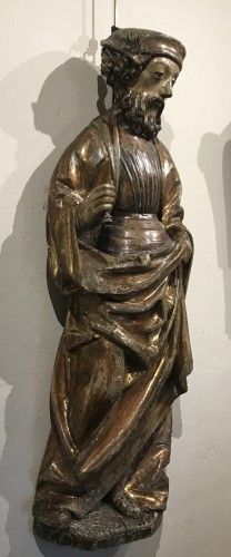 Religious Antiques  - Wooden sculpture, lower Rhine late 15th - early 16th century