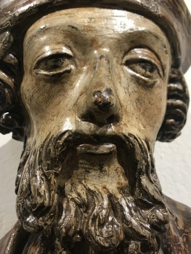 Antiquités - Wooden sculpture, lower Rhine late 15th - early 16th century