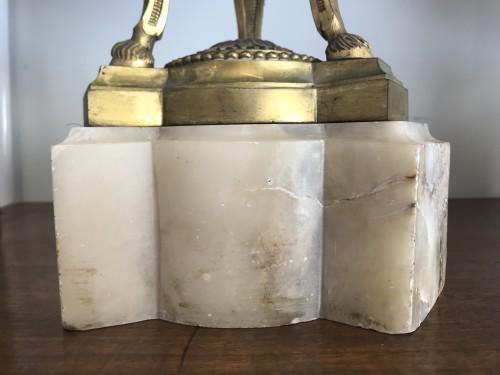 - Pair of bronze mount imari porcelain Pots-Pourri vases