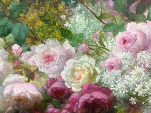 Antiquités - Basket of flowers - M. E. BARBAUD KOCH (1862 - 1928)