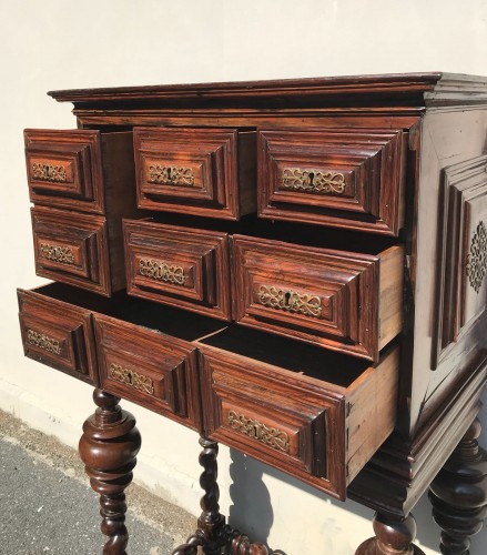 18th century - Small cabinet in natural wood, 18th century Portugal