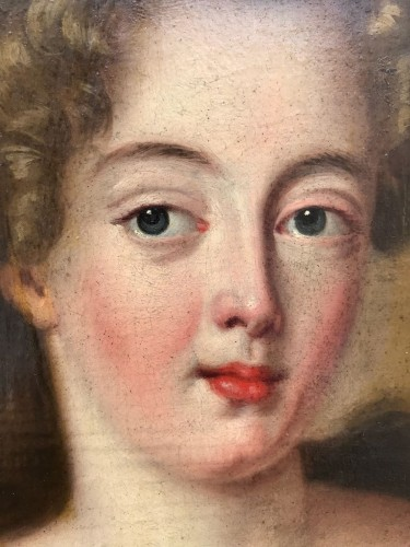 Antiquités - Small Pair of ladies portraits - French School of the eighteenth century