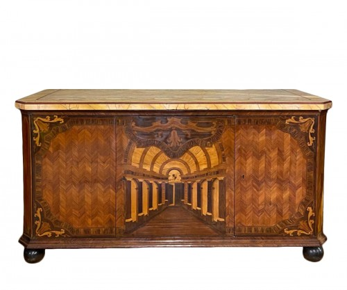 Large inlaid cabinet with doors, Germany 18th century