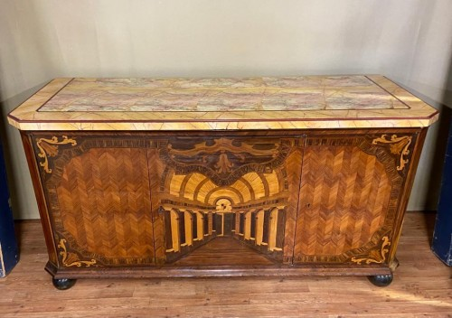 Large inlaid cabinet with doors, Germany 18th century - Furniture Style