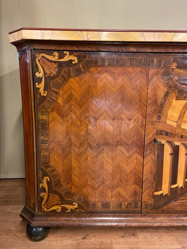 Furniture  - Large inlaid cabinet with doors, Germany 18th century