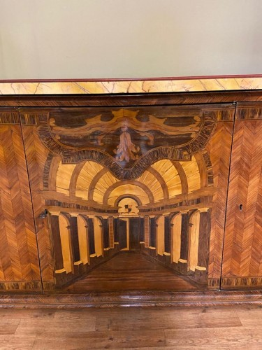 18th century - Large inlaid cabinet with doors, Germany 18th century