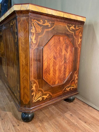 - Large inlaid cabinet with doors, Germany 18th century