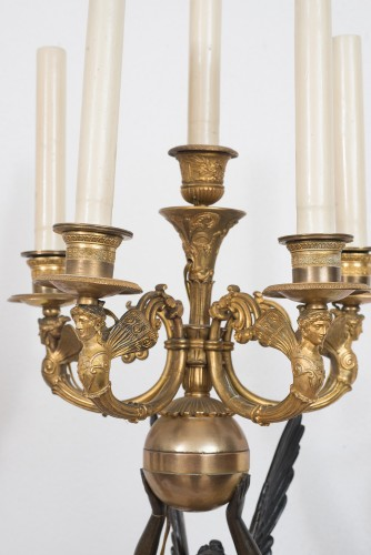 Lighting  - Pair Of Empire Candelabra