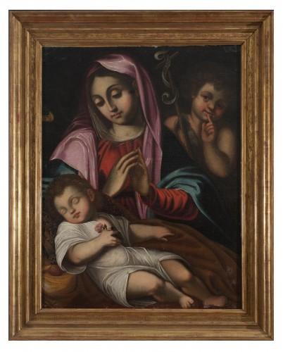 Virgin in prayer 17th Century Bologna