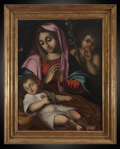 17th century - Virgin in prayer 17th Century Bologna