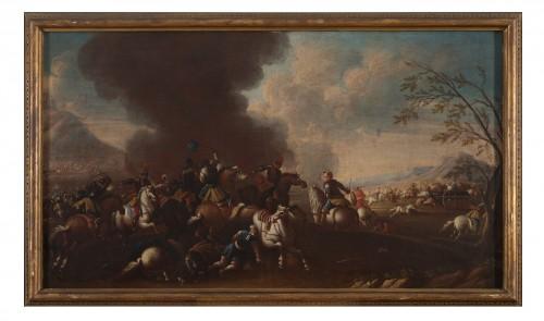 Battle scene, Italian school of the 17th century