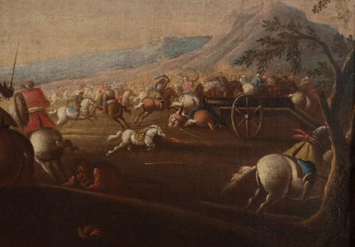 Battle scene, Italian school of the 17th century - Paintings & Drawings Style