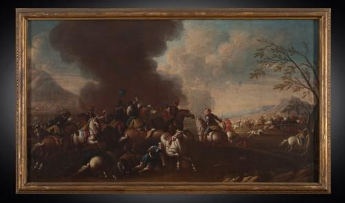 17th century - Battle scene, Italian school of the 17th century