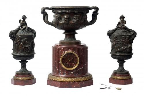 French Napoleon III Fireplace Set