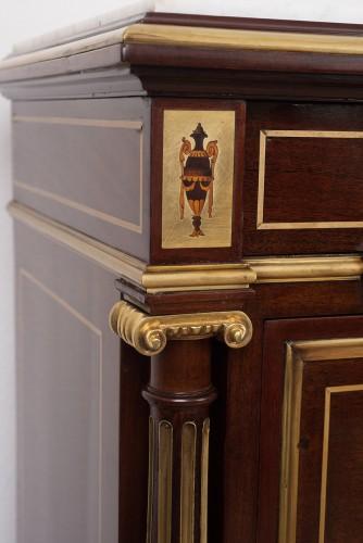 French Secretaries Napoleon III In Mahogany - Furniture Style Napoléon III