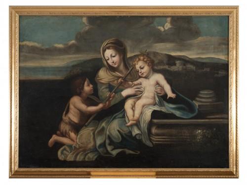 Virgin and child -  Naples 17th Century.