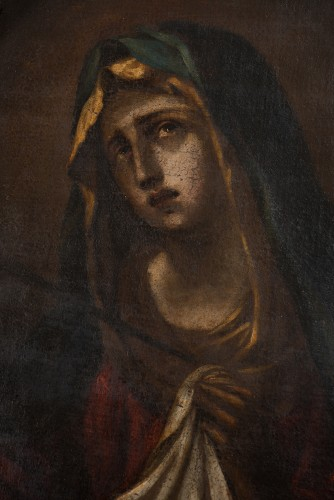 Lady of Sorrows -  17th Century Naples - Paintings & Drawings Style
