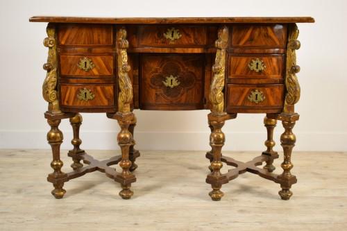 17th century North italian Mazarin desk - Furniture Style Louis XIV