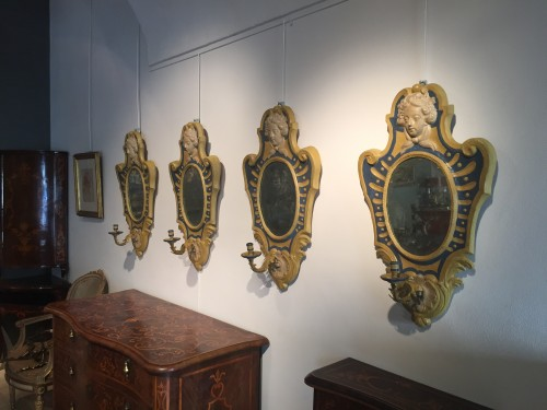 Two Italian Mirrors in papier maché -