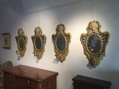 18th century - Two Italian Mirrors in papier maché