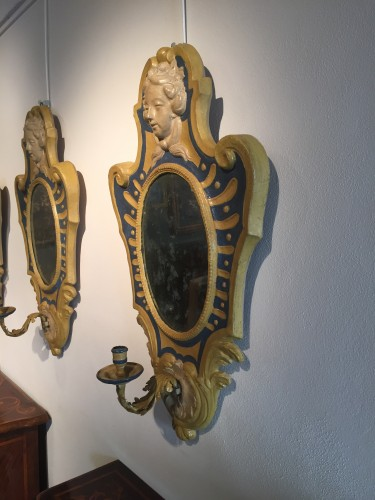 Two Italian Mirrors in papier maché - Louis XVI