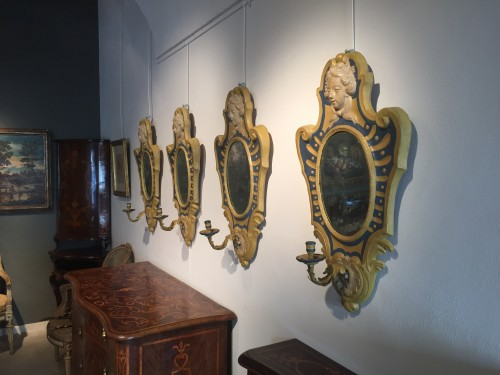 Louis XVI - Italian Mirrors in papier maché
