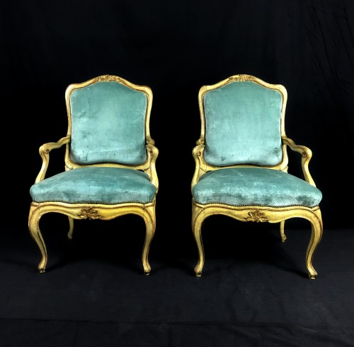 Four important Genoese armchairs, - Seating Style Louis XV
