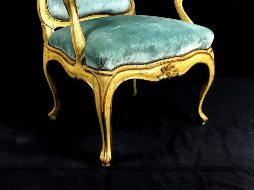 Seating  - Four important Genoese armchairs,