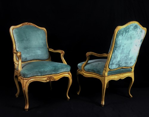 Four important Genoese armchairs, -