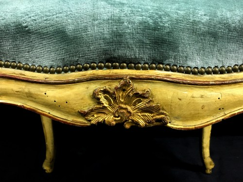 Louis XV - Four important Genoese armchairs,