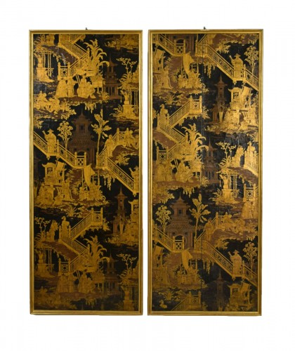 Painted paper decorated with chinoiserie