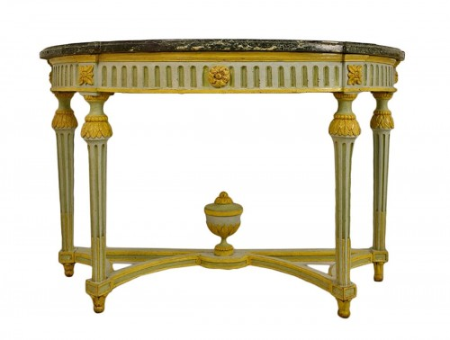Pair of Neoclassical lacquered half-moons console table