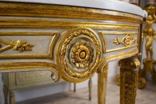 Antiquités - Neoclassical console with half moon