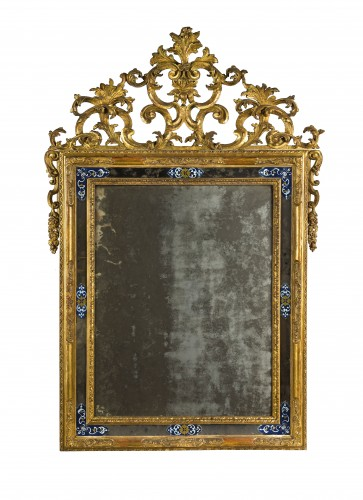 Italian mirror in golden wood - Mirrors, Trumeau Style Louis XV
