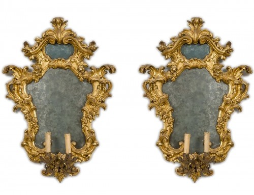 Pair of important mirrors Turin