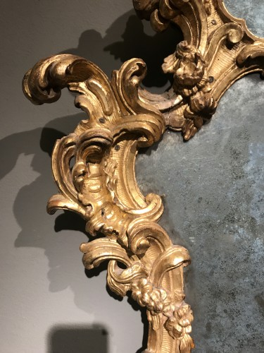 Pair of important mirrors Turin - Mirrors, Trumeau Style Louis XV