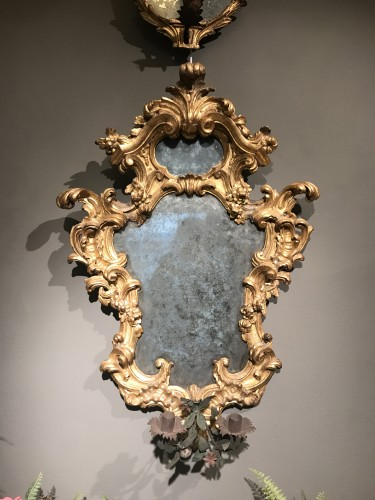 18th century - Pair of important mirrors Turin