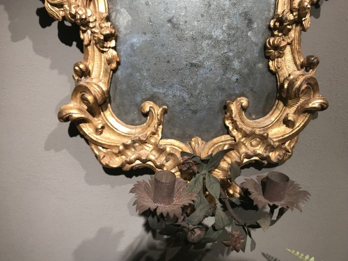 Pair of important mirrors Turin - Louis XV