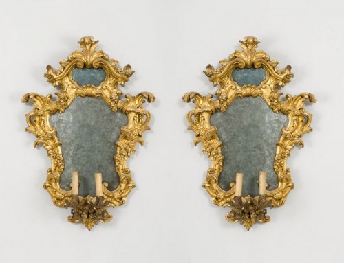 Louis XV - Pair of important mirrors Turin