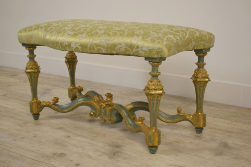 Elegant lacquered bench - Seating Style Louis XV