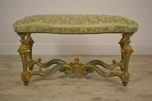 Elegant lacquered bench - Louis XV
