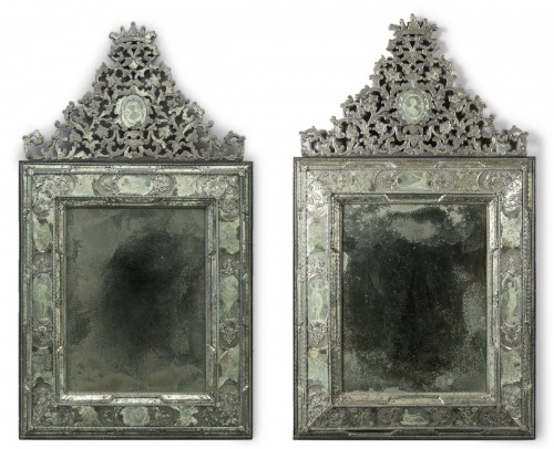 Pair of large Venetian mirrors, 18th century