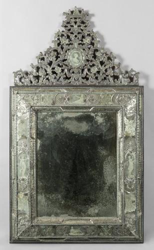 18th century - Pair of large Venetian mirrors, 18th century