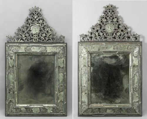 Pair of large Venetian mirrors, 18th century - Louis XVI