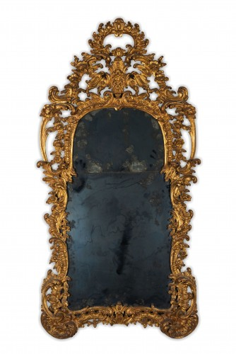 A 18th century North italian giltwood mirror